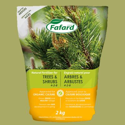 Engrais naturel arbres/arbustes 4-2-8 2kg
